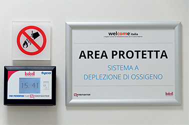 Sistema antincendio a deplezione di ossigeno