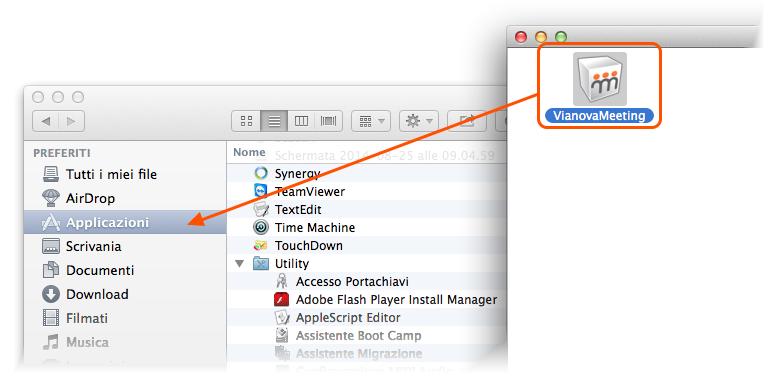 installazione Vianova Meeting per MAC