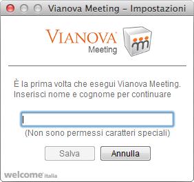 Vianova Meeting - Rinomina utente