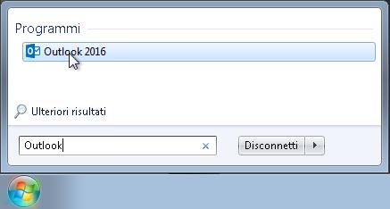 1. Cerca Outlook 2016