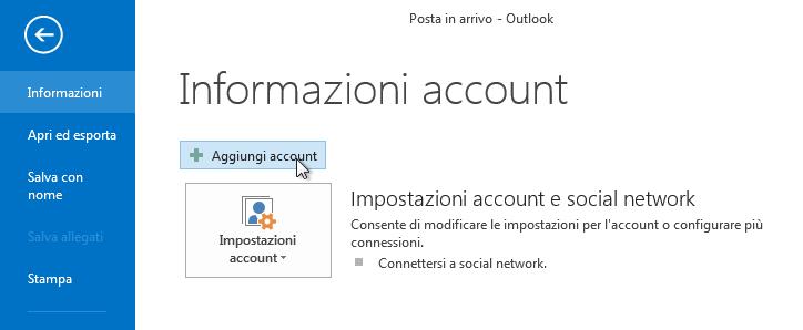 2. Aggiungi account