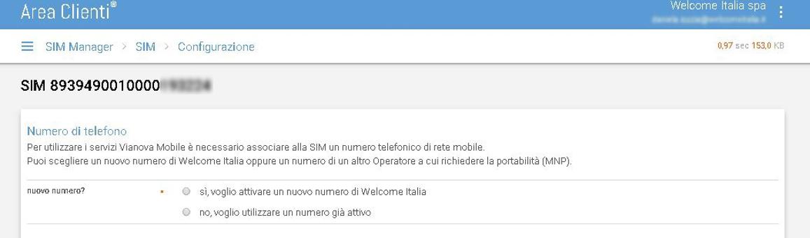 02. Configurazione della SIM