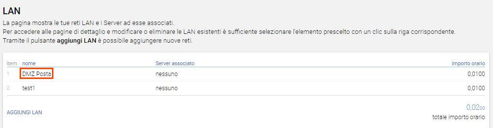 Scegli LAN