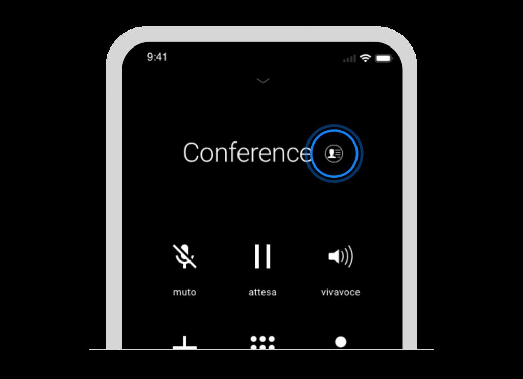 Schermata di dettaglio conferenza
